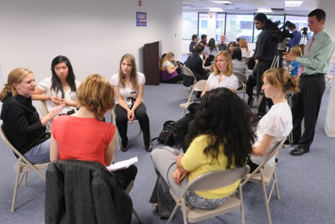 Meeting With Members of Hillary Clinton's Campaign
