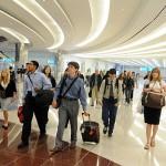 Walking through Dubai Airport