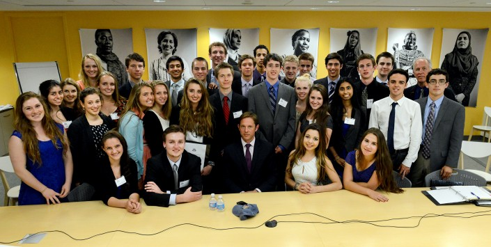 Mount Madonna School students with Hardin Lang