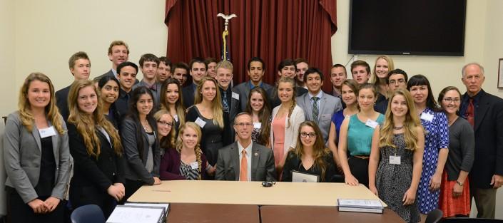 Mount Madonna School students with Congressman Huffman