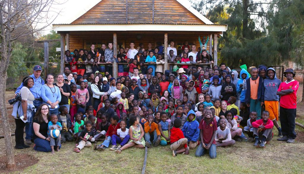 Mount Madonna School with the Botshabelo Family