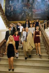 Inside the Capitol led by Congressman Sam Farr