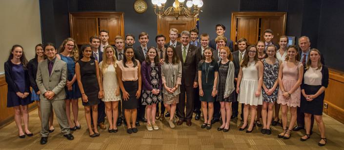 Mount Madonna students with Senator Joe Manchin