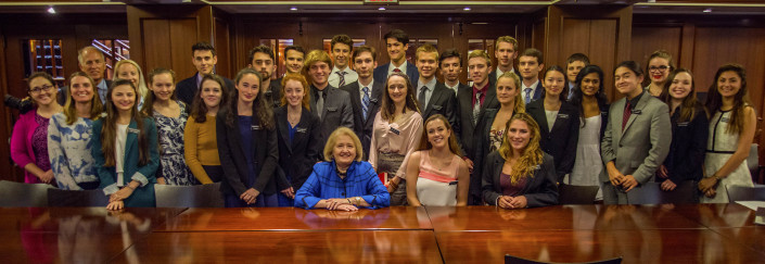 Mount Madonna students with Ambassador Melanne Verveer