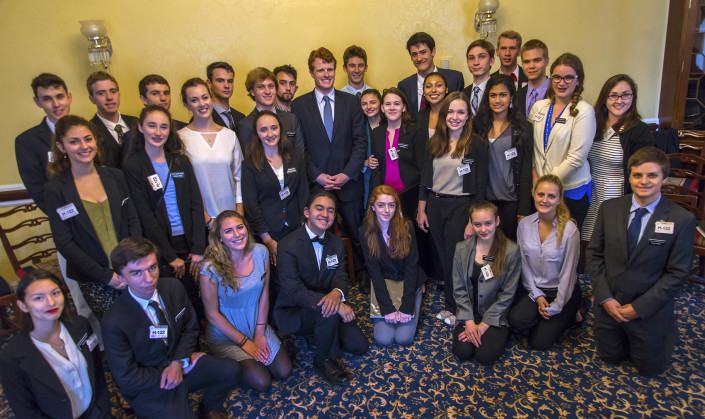 Mount Madonna students with Congressman Joe Kennedy