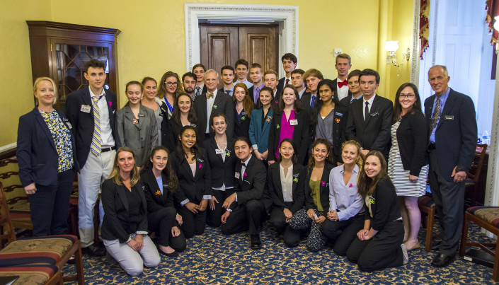 Mount Madonna students with Congessman Blumenauer