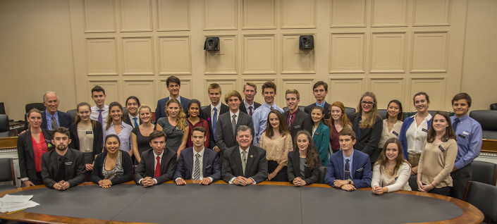 Mount Madonna students with Congressman Tom Cole