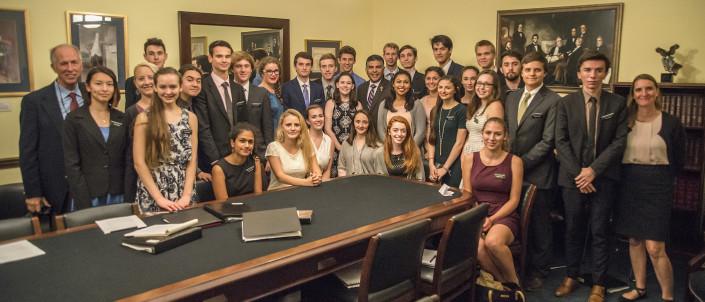 Mount Madonna students with Congressman Cardenas